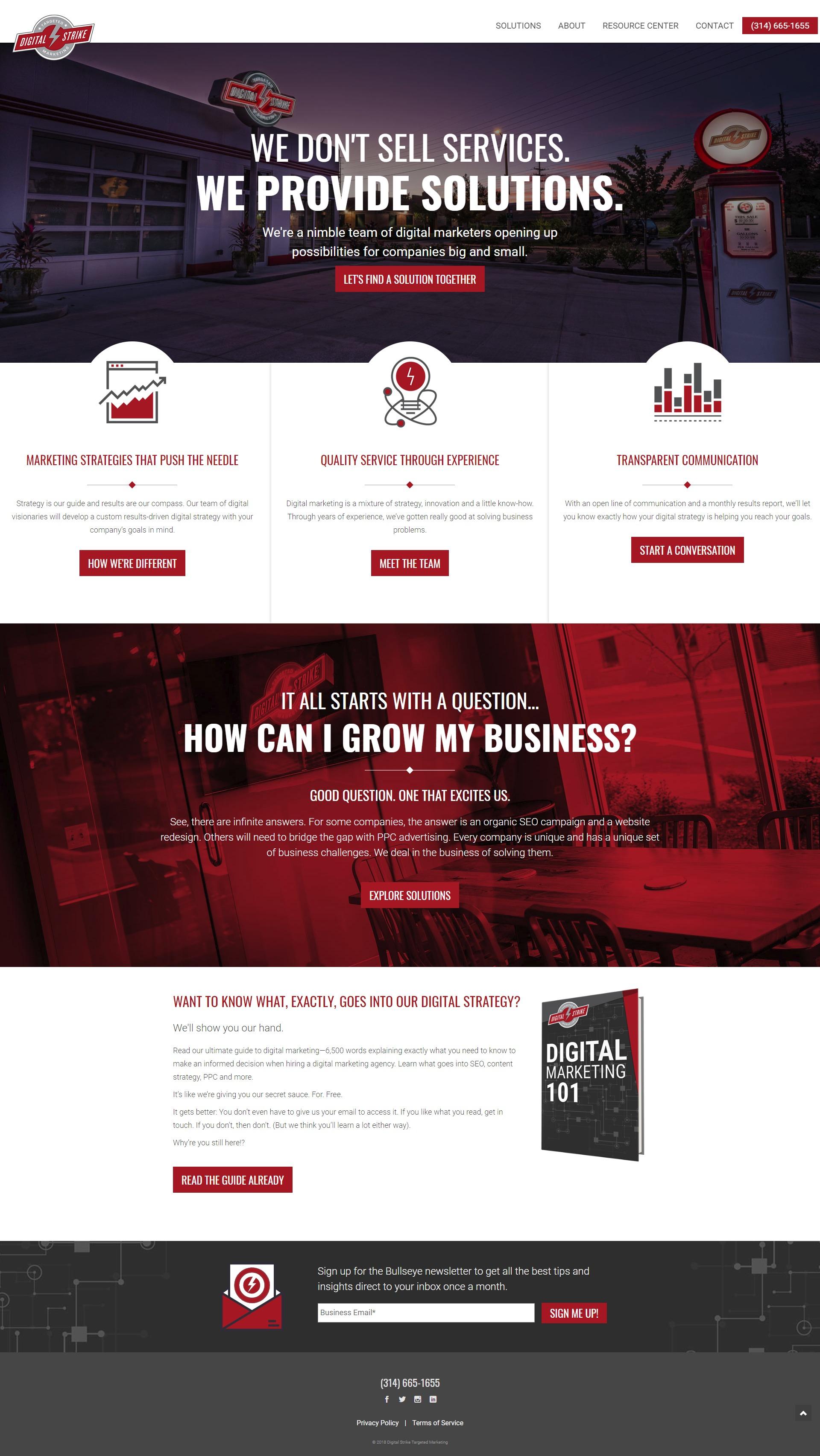 Digital Strike homepage