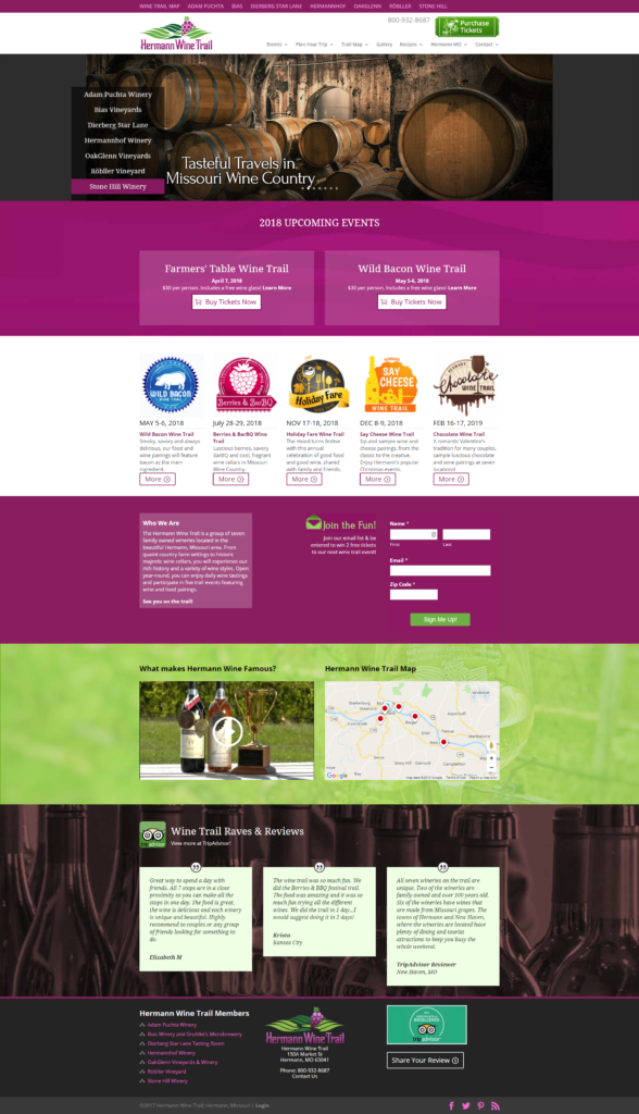 Hermann Wine Trail Case Study - New Website
