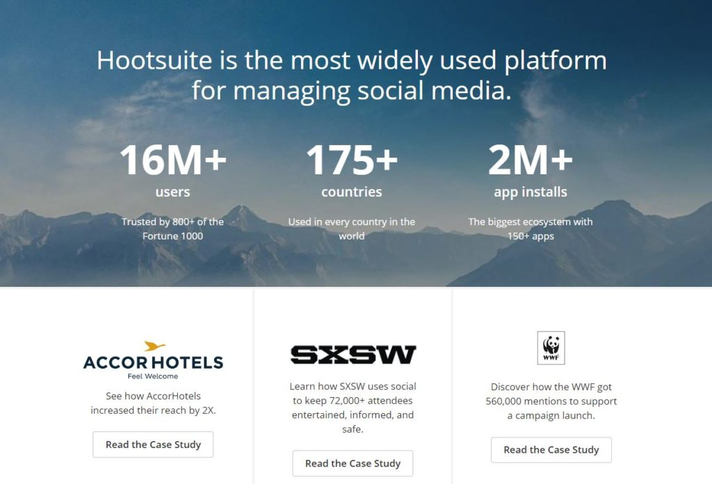 Testimonial example from Hootsuite
